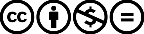 Creative commons licensing symbols